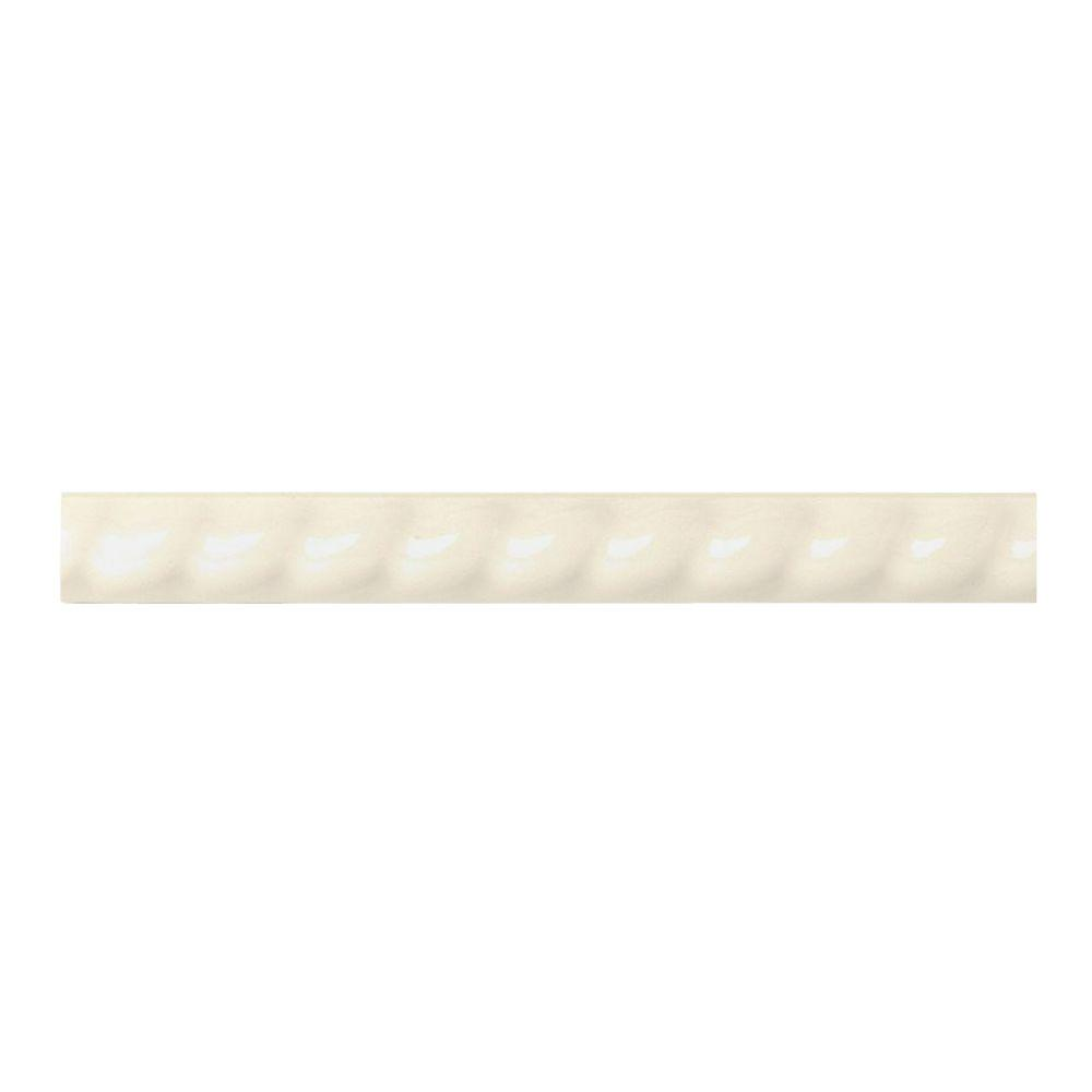 Daltile Liners Almond 1 In X 6 In Ceramic Rope Liner
