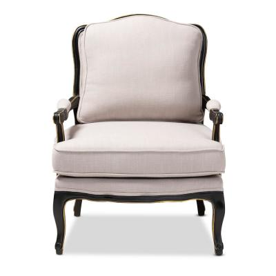 Antoinette Beige Fabric Accent Chair