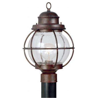 Hatteras 24 in. Gilded Copper 1-Light Post Lantern