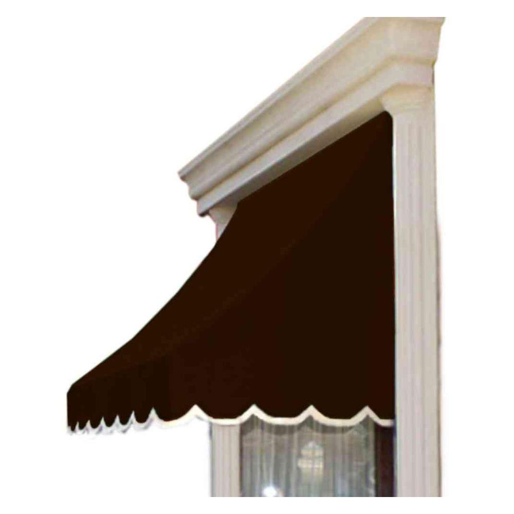 AWNTECH 12 ft. Nantucket Window/Entry Awning (56 in. H x 48 in. D) in Brown