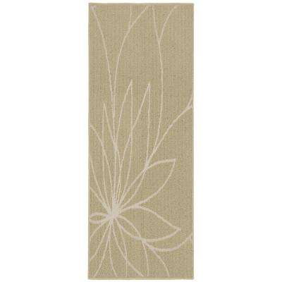 Grand Floral 2 ft. x 5 ft. Area Rug Tan/Ivory