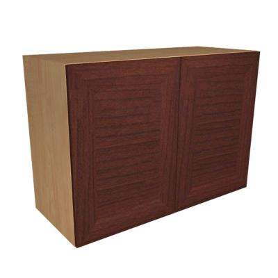 Dolomiti Ready to Assemble 30 x 21 x 12 in. Wall Cabinet with 2 Soft Close Doors in Cherry