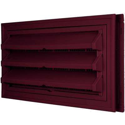 9-3/8 in. x 17-1/2 in. Foundation Vent Kit with Trim Ring and Optional Fixed Louvers (Molded Screen) in #078 Wineberry