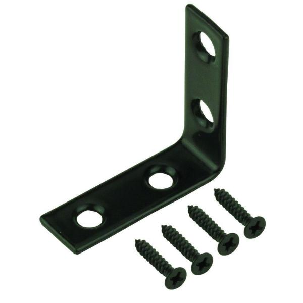 3 in. Black Corner Brace (4-Pack)