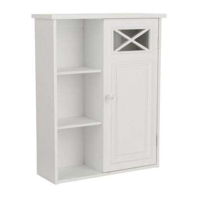 Johnston 20 in. W x 25 in. H x 7 in. D Bathroom Storage Wall Cabinet in White