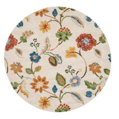 Portico Antique 7 ft. 9 in. x 7 ft. 9 in. Round Area Rug