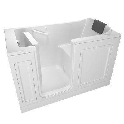Acrylic Luxury Series 59.5 in. Left Hand Walk-In Soaking Tub in White