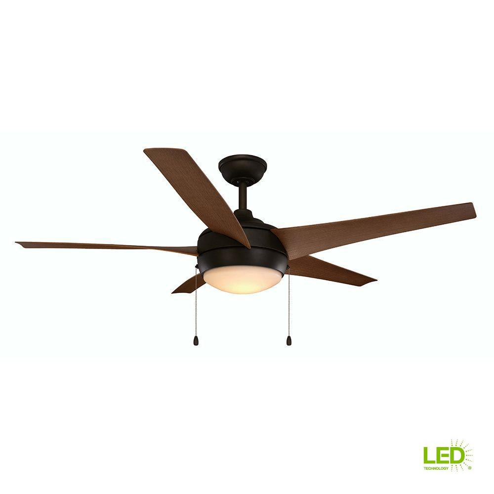 Home Decorators Collection Windward IV 52 in. Integrated LED Indoor/Outdoor  Oil-Rubbed
