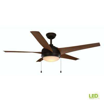 Integrated Led Indoor Outdoor Oil Rubbed Bronze Ceiling Fan
