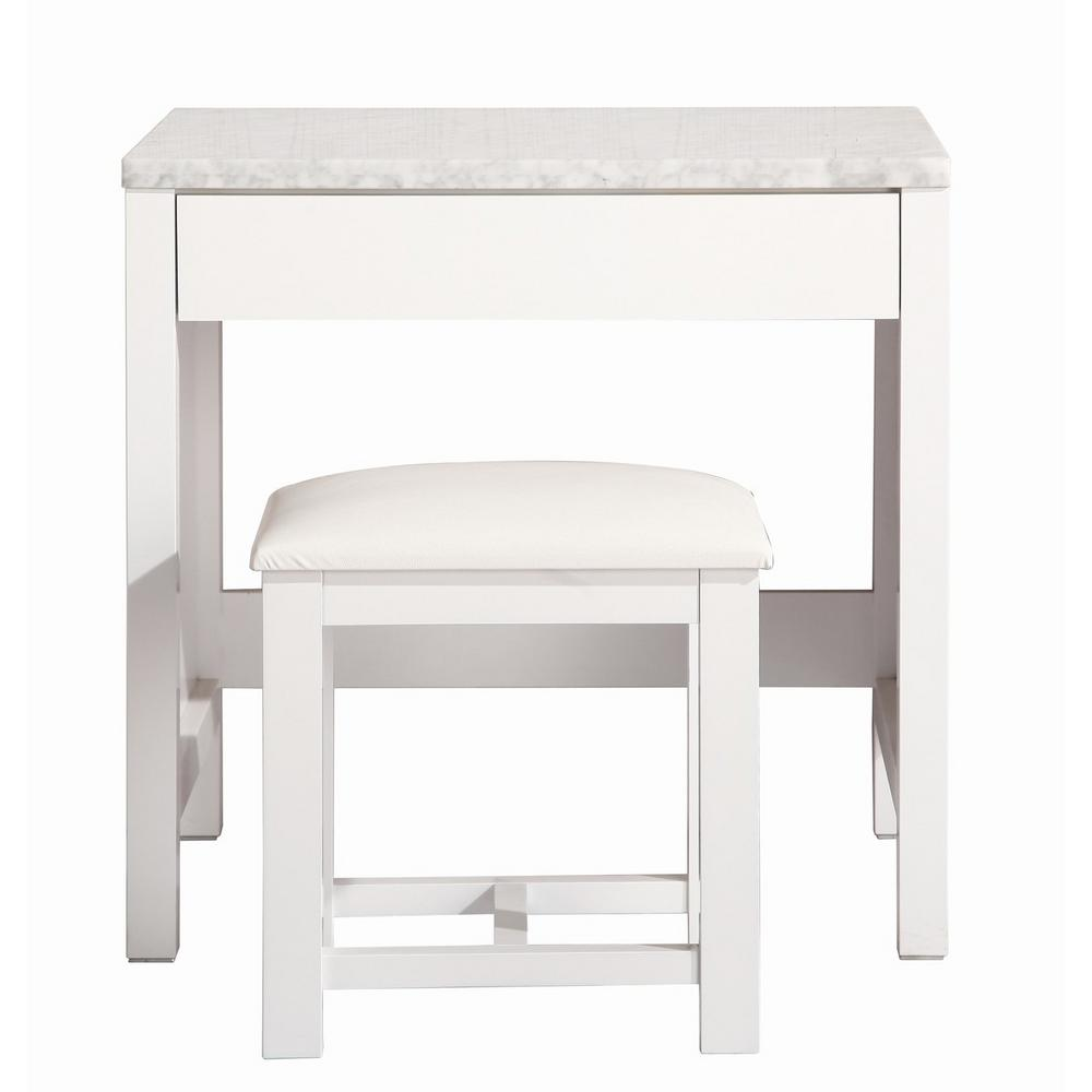 Makeup Vanity.Design Element London 30 In W X 22 In D Bath Vanity With Makeup Vanity Top In White