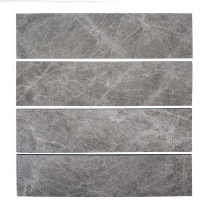 Tundra Grey 3 in. x 12 in. Marble Field Wall Tile (1 sq. ft./ pack)