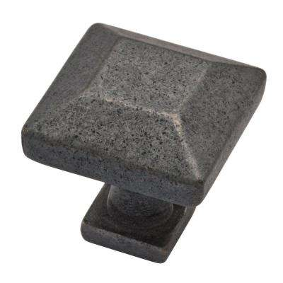 Beveled Square 1 in. (26mm) Soft Iron Cabinet Knob
