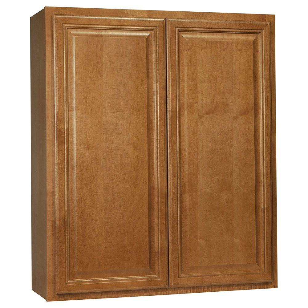 Cambria Assembled 36x42x12 in. Wall Kitchen Cabinet in Harvest