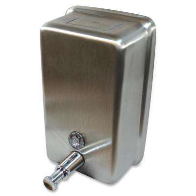 40 fl. oz. 1183 ml Vertical Soap Dispenser Manual in Stainless Steel