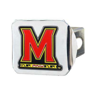 NCAA University of Maryland Color Emblem on Chrome Hitch Cover