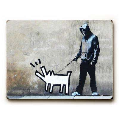 "9 in. x 12 in. ""Choose Your Weapon"" by Banksy Solid Wood Wall Art"
