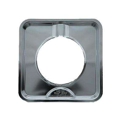 7.75 in. Gas Square Drip Pan in Chrome