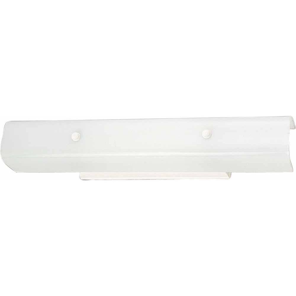 Filament Design Lenor 4-Light White Incandescent Wall Bath Vanity Light