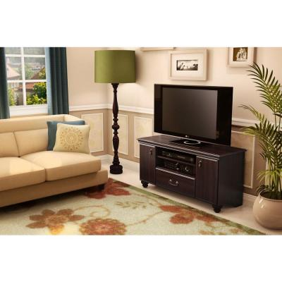 Noble 50-Disk Capacity TV Stand for TVs up to 50 in. Dark Mahogany