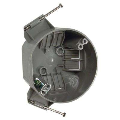 4 in. Round Non-Metallic Ceiling Cable Box, 2-3/8 in. Deep with Ground Plate (75-Pack)