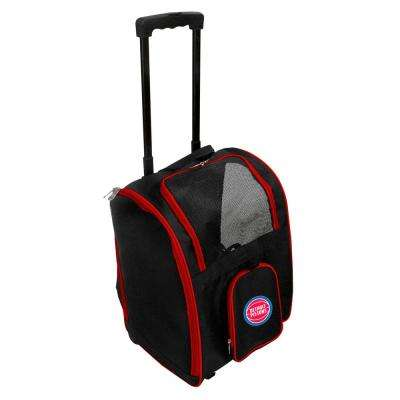 NBA Detroit Pistons Pet Carrier Premium Bag with wheels in Red