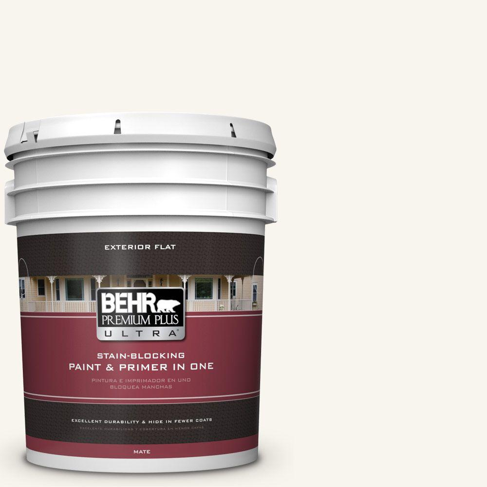 BEHR Premium Plus Ultra 5-gal. #PR-W13 Crystal Cut Flat Exterior Paint