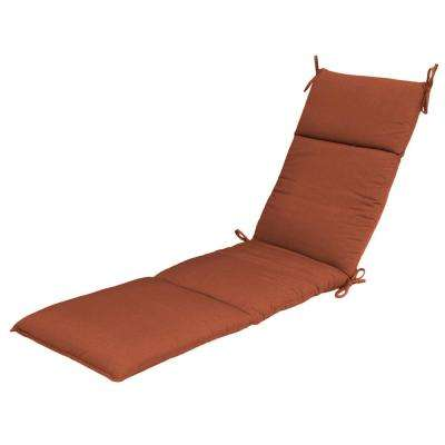 Sunbrella Canvas Paprika Outdoor Chaise Cushion  sc 1 st  Home Depot : orange chaise lounge cushions - Sectionals, Sofas & Couches
