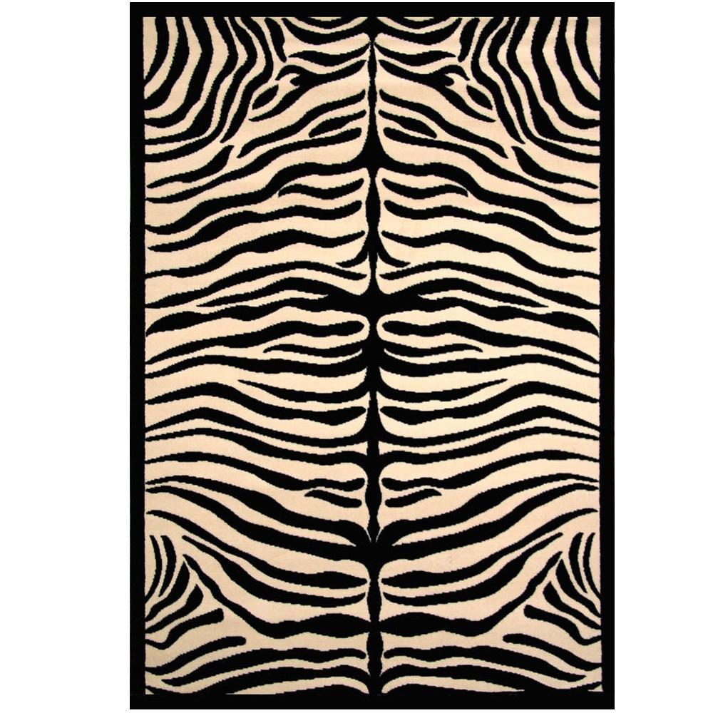 Terra Safari Black 5 ft. 3 in. x 7 ft. 6 in. Area Rug