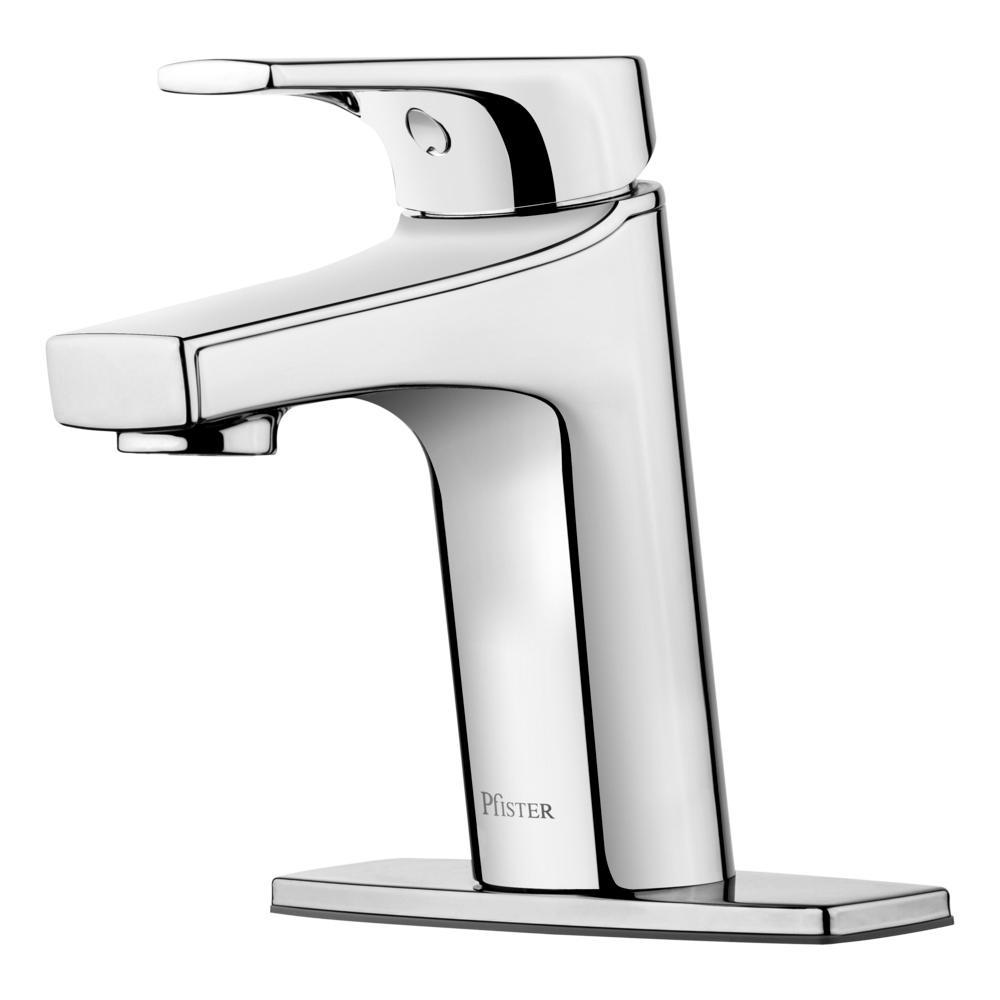 Ferris Single Hole Single-Handle Bathroom Faucet in Polished Chrome