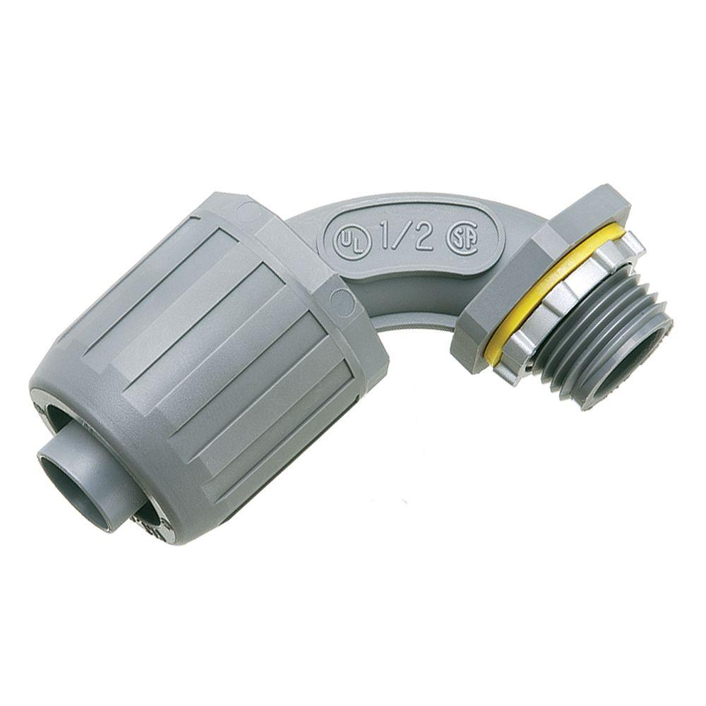 null 90-Degree 1/2 in. SNAP2IT Non-Metallic Connector