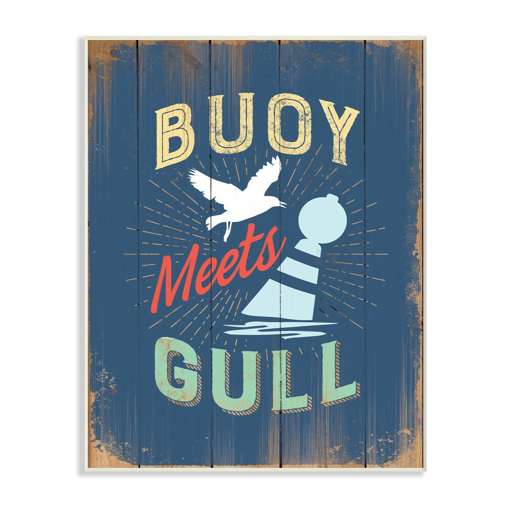 "10 in. x 15 in. ""Buoy Meets Gull Humor"" by JJ"