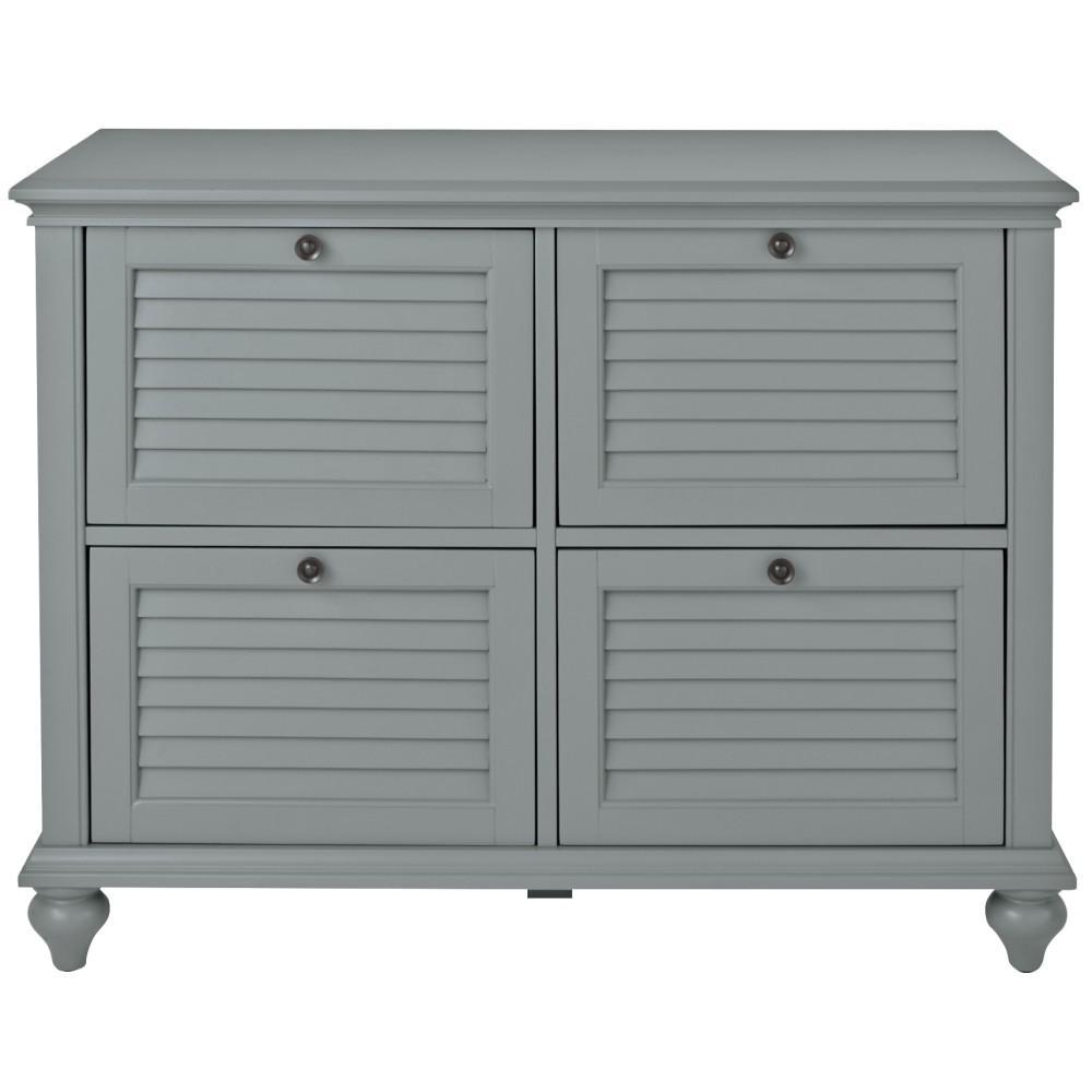 Hamilton Grey 4 Drawer File Cabinet
