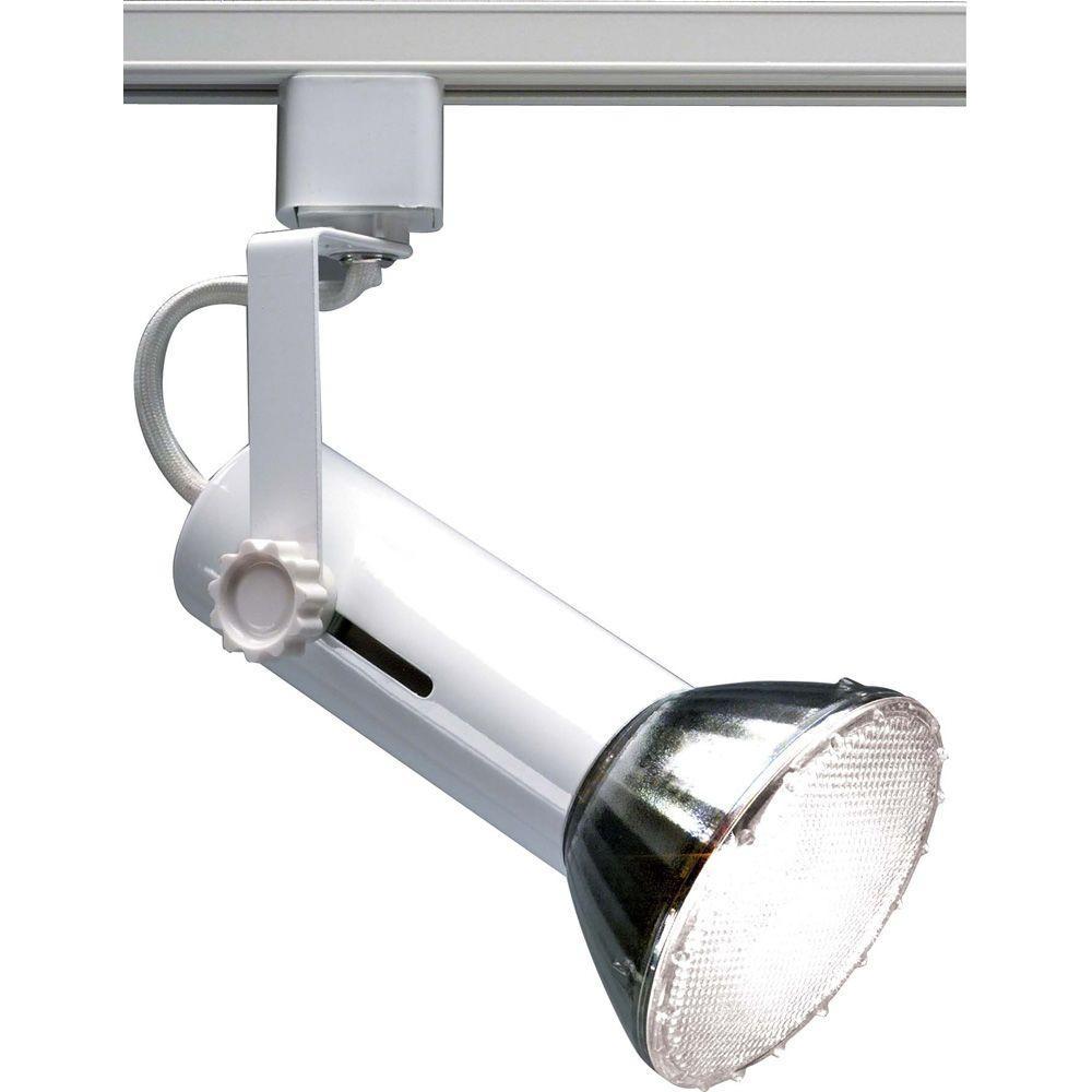 1-Light 2 in. White Universal Holder Track Lighting Head