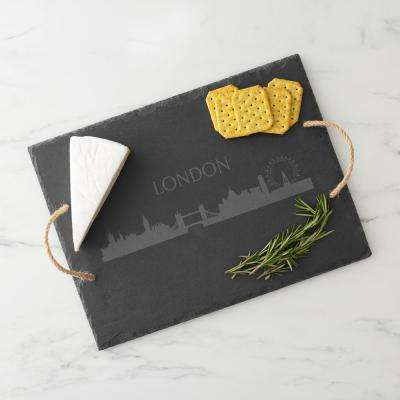 London Skyline Black Slate Serving Tray