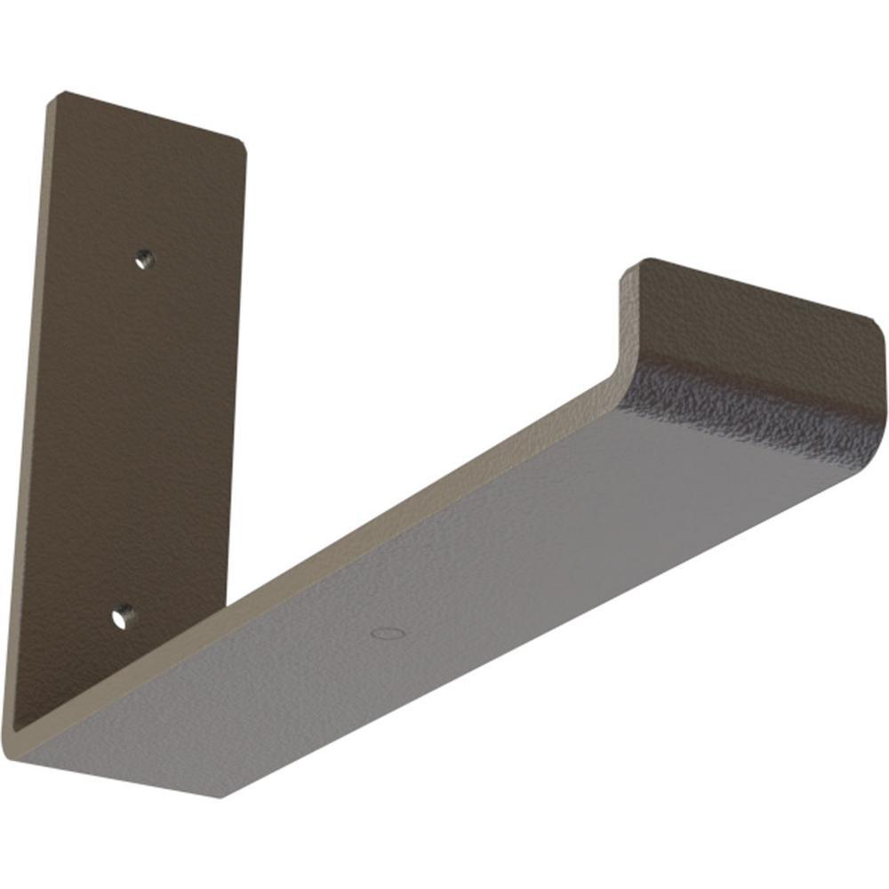 2 in. x 6 1/2 in. x 10 in. Hammered Brown Steel Hanging Shelf Bracket