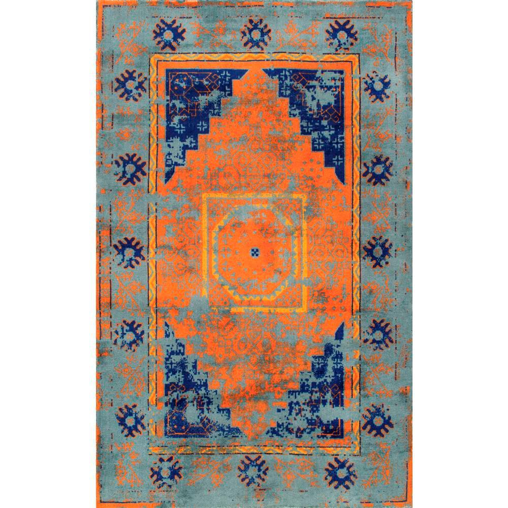 Lucina Vintage Medallion Blue 8 ft. x 10 ft. Area Rug
