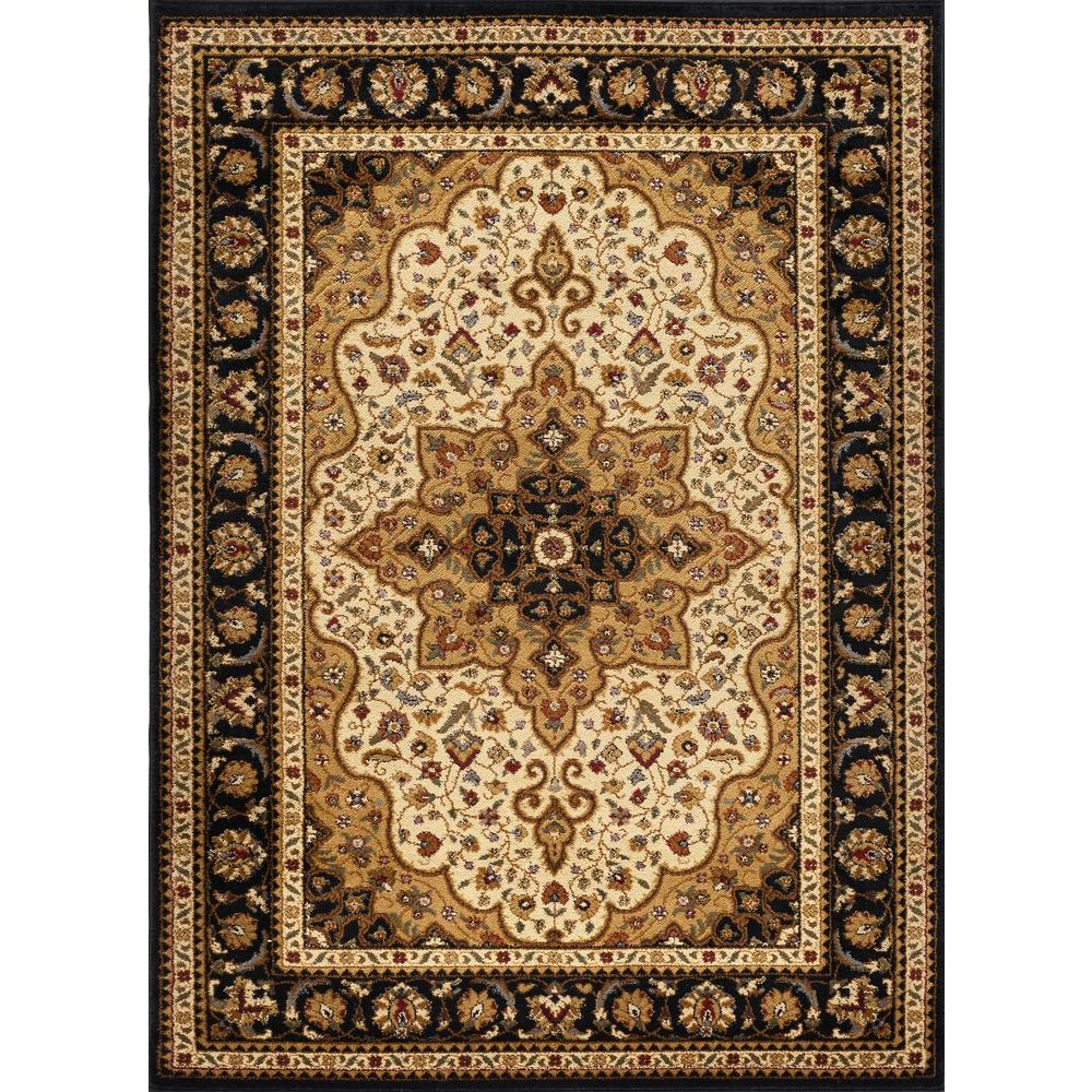 Tayse Rugs Sensation Ivory 10 Ft 6 In X 14 Ft 6 In