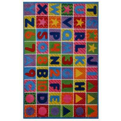 Supreme Numbers & Letters Multi Colored 8 ft. x 11 ft. Area Rug