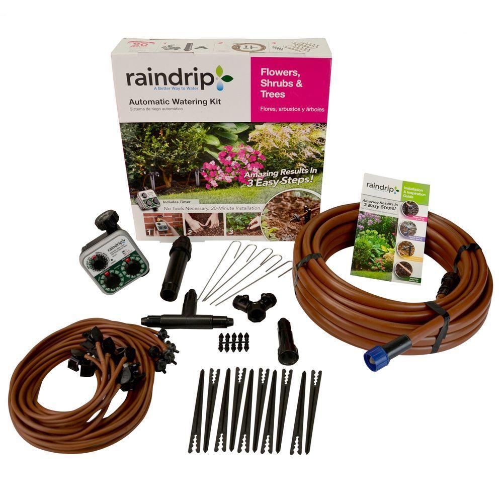 raindrip Flower, Shrub and Tree Drip Watering Kit-SDFSTH1P - The ...