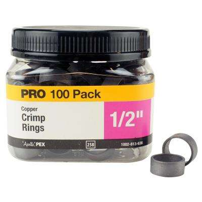1/2 in. Copper Crimp Ring Jar (100-Pack)
