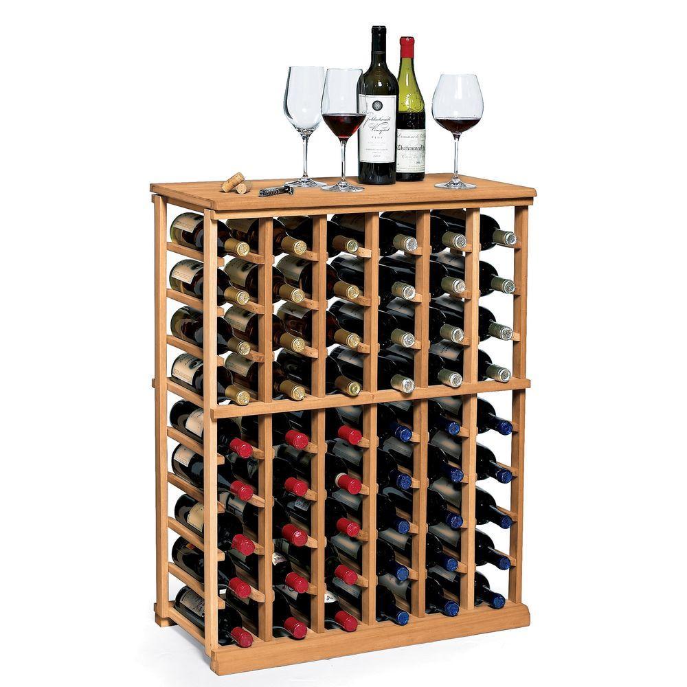 Wine Enthusiast N'Finity 60-Bottle Natural Floor Wine Rack