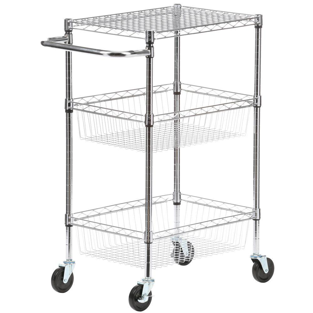 HDX Commercial 30 in. W Basket Kitchen Cart-EH-WSTHDUS-007 - The ...