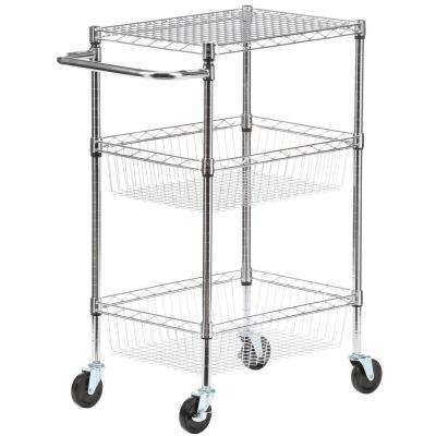 Commercial 30 in. W Basket Kitchen Cart