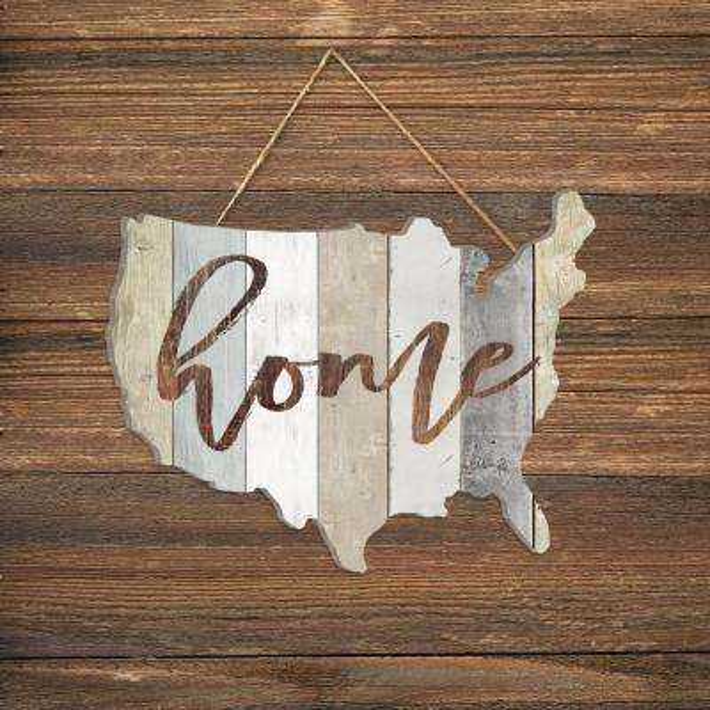 Marla Rae Home USA-Shaped Wood Decorative Sign