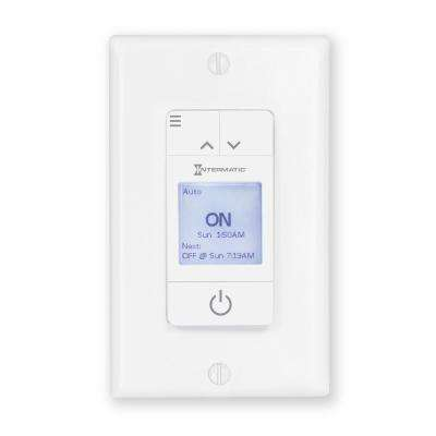 switch white u solar programmable timer day honeywell light almond