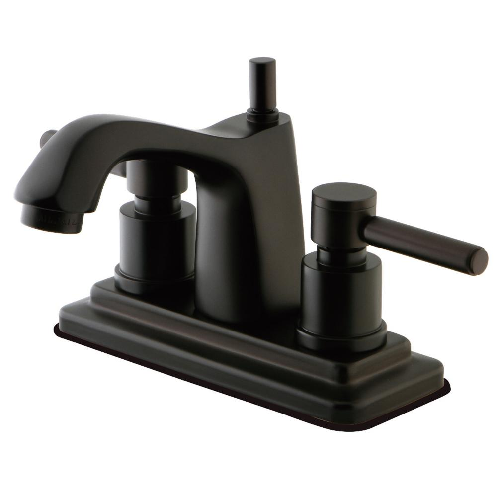 Kingston Brass Concord 4 in. Centerset 2-Handle Bathroom Faucet in Oil Rubbed Bronze