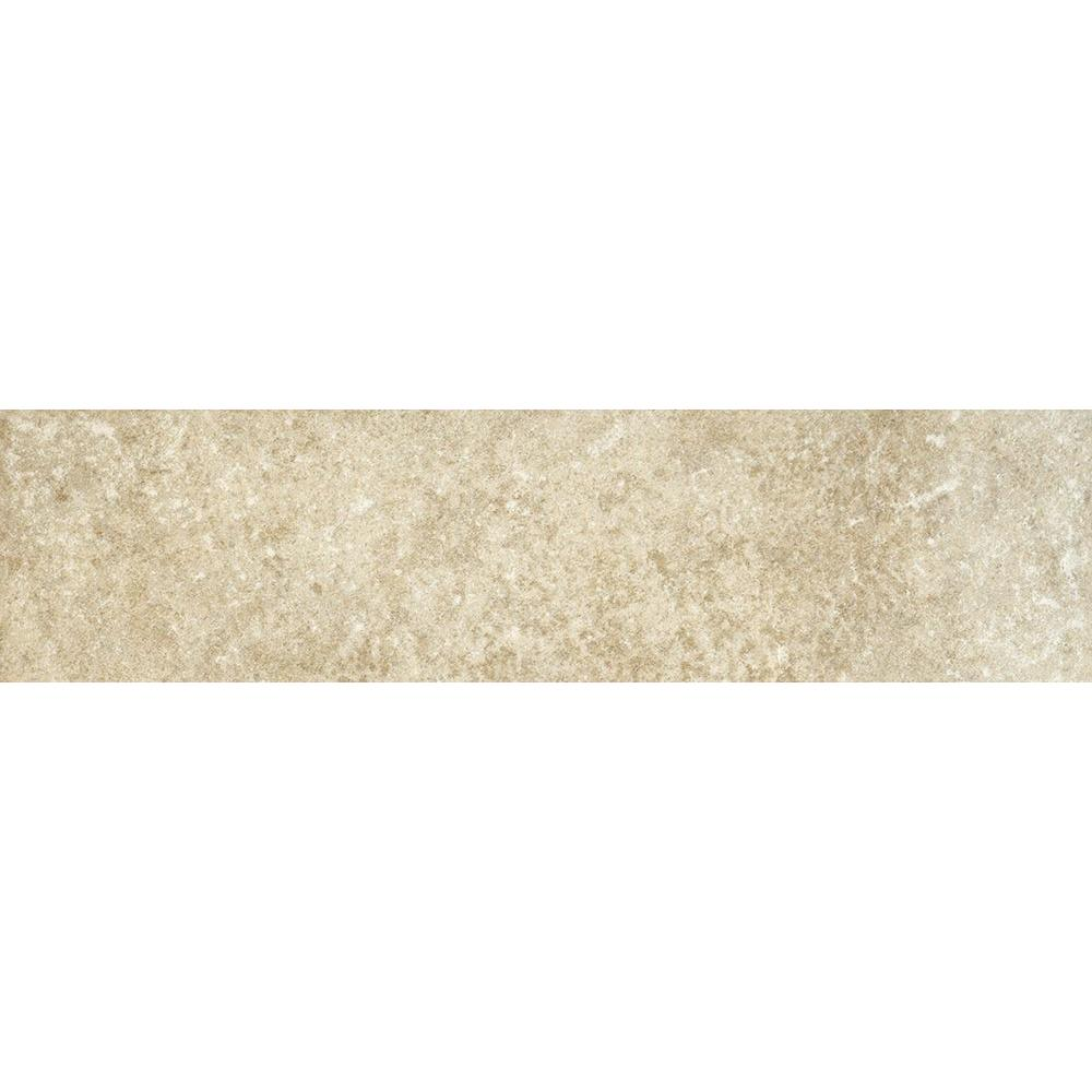 ELIANE Athens Grigio 3 in. x 12 in. Glazed Porcelain Bullnose Floor and Wall Tile