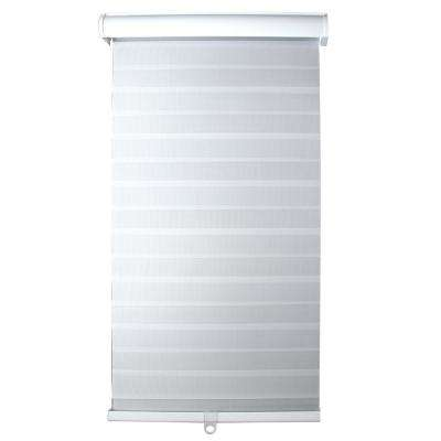 Light Filtering White 24 in. x 72 in. Cordless Sheer Shade