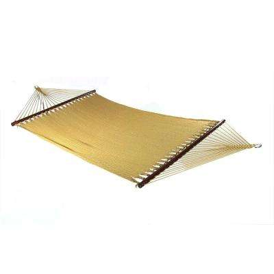 11 ft. 2-Person Large Rope Hammock Bed with Spreader Bar in Tan