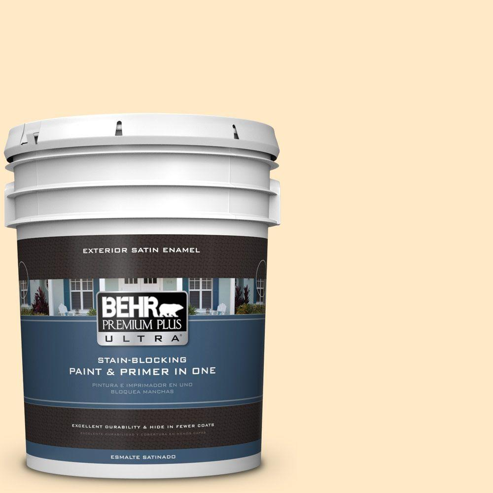 BEHR Premium Plus Ultra 5-gal. #P250-1 Papaya Sorbet Satin Enamel Exterior Paint